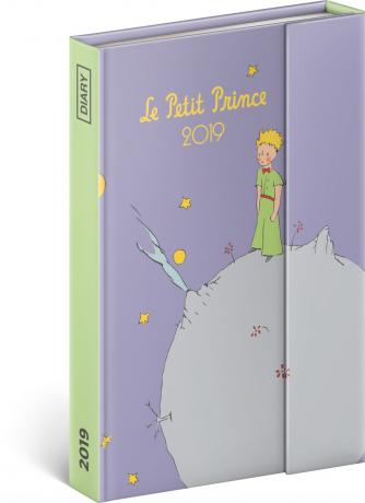 Týdenní magnetický diář Malý princ – Planet 2019, 10,5 x 15,8 cm