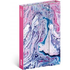 Týdenní magnetický diář Marble 2019, 10,5 x 15,8 cm