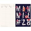Týdenní magnetický diář Minnie 2021, 11 × 16 cm