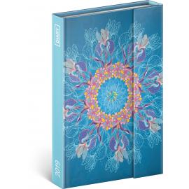 Týdenní magnetický diář Ornament 2019, 10,5 x 15,8 cm