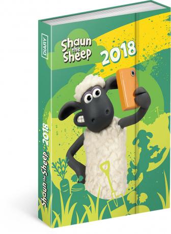 Týdenní magnetický diář Ovečka Shaun 2018, 10,5 x 15,8 cm