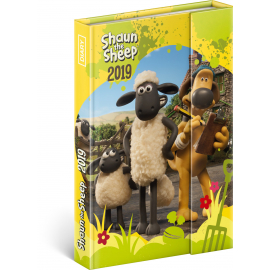 Magnetic weekly diary Shaun The Sheep 2019, 10,5 x 15,8 cm