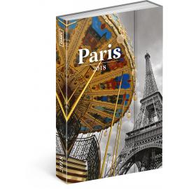 Týdenní magnetický diář Paříž 2018, 10,5 x 15,8 cm