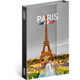 Týdenní magnetický diář Paříž 2019, 10,5 x 15,8 cm