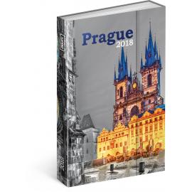 Týdenní magnetický diář Praha 2018, 10,5 x 15,8 cm