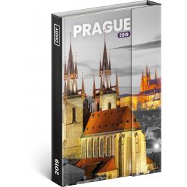 Týdenní magnetický diář Praha 2019, 10,5 x 15,8 cm