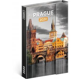 Týdenní magnetický diář Praha 2020, 11 × 16 cm