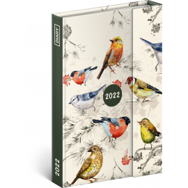 Magnetic weekly diary Birds 2022, 11 × 16 cm