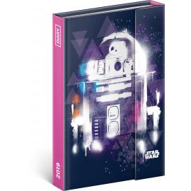 Týdenní magnetický diář Star Wars 2019, 10,5 x 15,8 cm