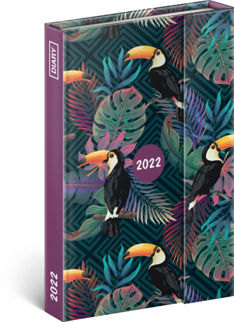 Týdenní magnetický diář Tropical 2022, 11 × 16 cm