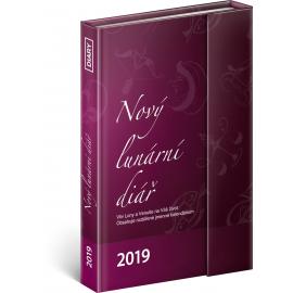 Týdenní magnetickýdiář Nový lunární diář 2019, 10,5 x 15,8 cm