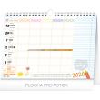 Týdenní rodinný plánovací kalendář s háčkem 2020, 30 × 21 cm