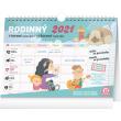 Týdenní rodinný plánovací kalendář s háčkem 2021, 30 × 21 cm