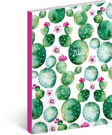 Ultralehký diář Kaktus 2020, 11 × 17 cm