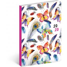 Ultralehký diář Peříčka 2020, 11 × 17 cm