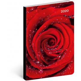 Ultralehký diář Růže 2020, 11 × 17 cm