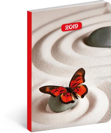 Ultralehký diář Zen 2019, 11 x 17 cm