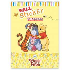 W. Disney Winnie the Pooh wall sticker calendar, 33 x 46 cm