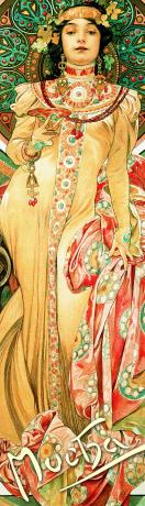 Záložka Alfons Mucha – Moet Chandon